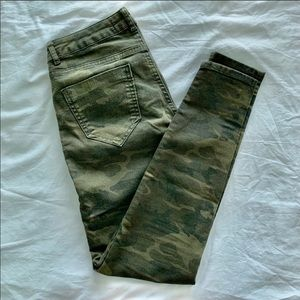 Zara Basic Moto Army Fatigue Denim